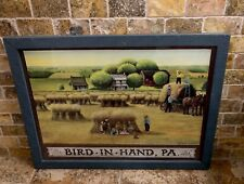 "GEORGE LYSTER ""AMISH WHEAT HARVEST AT BIRD IN HAND PA"" HAND SIGNED LITHOGRAPH"