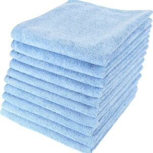 Large Lint Free Microfibre Cleaning Cloth Duster Polishing Towel BLUE 10 Pack
