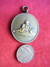 More details for a vintage bronze shooting medal 'punch challence trophy'
