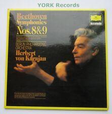 DG 2725 101 - BEETHOVEN - Symphonies No 8 & 9 KARAJAN BPO - Ex Double LP Record