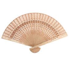PRO Chinesen Vintage Japanischen Bambus Holz Geschnitztes Hand Fan Geschenk
