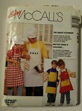 McCall's Easy Crafts #784 Aprons / Coverups / Art Smocks Sewing Pattern