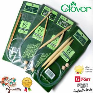 Clover Takumi Circular Knitting Needles - Premium  Bamboo Many Sizes & Lengths