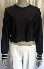Ralph Lauren Polo Sport Women's Nylon Sweater Short Black White Large Pre-owned