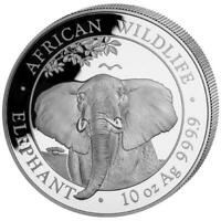 Silbermünze - Somalia Elefant - 10 Unzen - elephant 10 oz - 2021