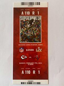 SUPER BOWL LV Commemorative Ticket Stub - KC Chiefs vs Tampa Bay Bucs Brady MVP
