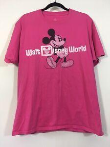 Disney Mickey Mouse T-Shirt Size Large Pink Walt Disney World Graphic Tee