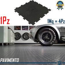 1 Piastrella Flessbile Pavimento Garage Officina Rivestimento in Polivinile Nero