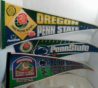 NCAA Penn State Vintage Lot of 3 1990's 2000  Rose Bowl Team Logo Pennants