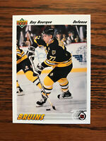 1991-92 Upper Deck #255 Ray Bourque Hockey Card Boston Bruins NHL Raw