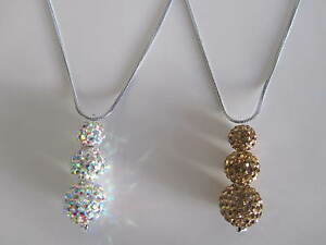 Stunning New Clay Shamballa Pendant Necklace UK