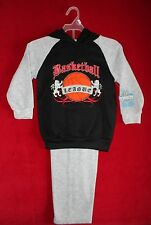 TUFF GUYS Street Gear Boys 4  'Basketball League' Black and Gray Sweat Suit-NWT