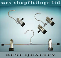 "TROUSERS SKIRT JEANS METAL CLIP HANGERS "" NON SLIP ""  HIGH QUALITY"