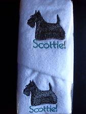 SCOTTIE SCOTTY TERRIER DOG  HAND TOWEL & FACE WASHER-BN