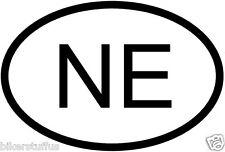 NE NEBRASKA COUNTRY CODE OVAL STICKER