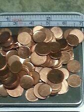 "200 COPPER MINIATURE ART ROUNDS METAL VARIOUS SIZES 1/4"" 3/8"" scrapbook welding"