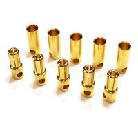 Goldstecker 2mm 3,5mm 4mm 5mm 5,5mm 6,0mm 8,0mm Stecker Buchse 2 3 4 5 6 8 10 20