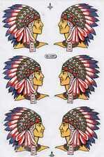 "D08 American Indian Racing Tuning Sticker Decal 1 Sheet 10,5""x7"" / 27x18 cm"