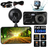 G-Sensor Car Camera Dual Lens Dash Cam Front & Rear Night Vision 170 Wide Angle