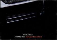cartolina pubblicitaria PROMOCARD n.2698 TOYOTA MOTOR CAR COROLLA AUTOMOBILE