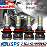 Car LED Headlight Bulbs Conversion Kit 9005 H11 High Low Beam Bright White 6000K