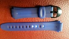 WATCH BAND BRACELET MONTRE  PVC***bleu********* 18à22mm**REF KU 47