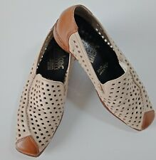 Rieker Womens Shoes EUR Size 37 Antistress Loafers Soft Leather Cut Out Flats