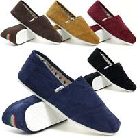 Mens Slip On Casual Canvas Espadrilles Summer Plimsolls Trainers Pumps Shoe Size