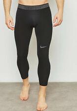 Nike Men's Pro Hypercool 3/4 Black/Grey Training Tights (AT3645-010) S/M/L/XL/XX