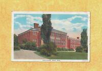 MA Ware 1935 antique postcard HIGH SCHOOL MASS education