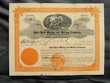 1915 Stock Certificate Gold Reed Mining And Milling Company Arizona