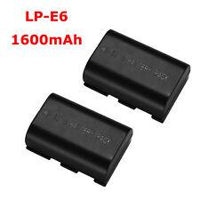 2 Pack LP-E6 LPE6 Battery For Canon EOS 6D 7D 70D 60D 5D Mark II III DSLR Camera