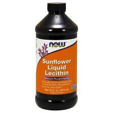 4x Now Foods Supplement Sunflower Lecithin Liquid Nervous System 16fl Oz 473ml