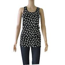 Cross Tank Top Blouse Tee Shirt Black White Crosses One size Light Weight