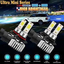 9005+9006 Combo 6010W CREE LED Headlight Kit High & Low Beam Light Bulb Power