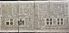 NEW GENEALOGICAL MAP OF THE ROYAL HOUSE OF FRANCE Engraving by Chatelain - 1720
