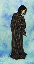 JAPANESE KIMONO STYLE  KUROHACHIJO  made of silk retoro