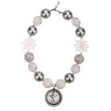 Olaf Pendant Chunky Beads Bubblegum Gumball For Kids Necklace Jewlery