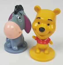 Winnie the Pooh and Eeyore CEREAL TOYS LOT OF 2 BOBBLE HEADS  KELLOGGS CEREAL!