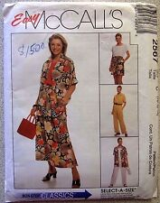 McCALL'S SEWING PATTERN NO. 2567 LADIES SUIT WITH PANTS SIZE 10,12,14 UNCUT