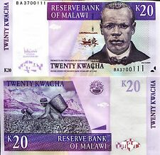 MALAWI 20 Kwacha Banknote World Paper Money UNC Currency Pick p52d Chilembwe