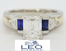 1.24 ct 14K White Gold The Leo Emerald Mixed Cut Diamond Engagement Ring IGI