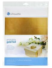 SILHOUETTE - Printable Gold Foil adhesive-backed sheets