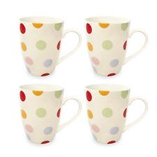 Cooksmart Set de 4 Tasses, à Pois Moderne Amusant Pointillé Coloré Café