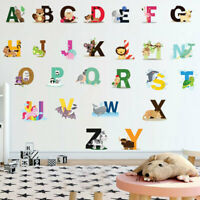 26 Alphabet Animals Wall Sticker Art Decal Baby Kids Boys Girls Nursery Decor