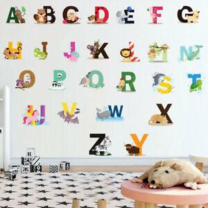 26 Alphabet Animals Wall Sticker Art Decal Baby Kids Boys Girls Nursery Decor