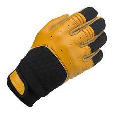 BILTWELL Bantam Gants de moto,cuir synthétique mélange, beige noir taille L