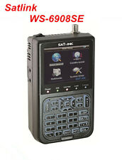 SATLINK WS-6908SE FTA Digital Satellite Finder Support KB-LIGHT& BACKLIGHT QPSK