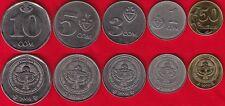 Kyrgyzstan set of 5 coins: 50 tyiyn - 10 som 2008-2009 UNC