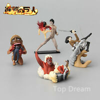 4pcs Attack On Titan Shingeki no Kyojin Aren Mikasa Ackerman Anime Figures New